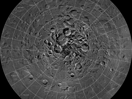NASA image of the day, March 18, 2014: Mosaic of the lunar north pole
