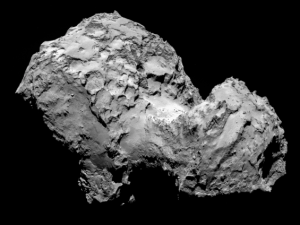 Comet 67P/Churyumov-Gerasimenko is seen in an image obtained Aug. 3 by the Rosetta spacecraft.