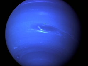 Neptune, as seen by Voyager 2 on Aug. 20, 1989