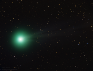 This photo of Comet C/2014 Q2 Lovejoy was taken in late December 2014 at an approximate magnitude of 5.6. Photo courtesy Wikimedia, photo by Paul Stewart.