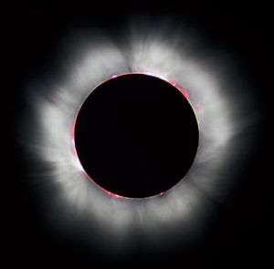 This image of a 1999 total solar eclipse is provided courtesy Wikimedia.