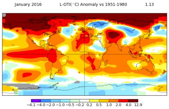 Jan. 2016 temperatures