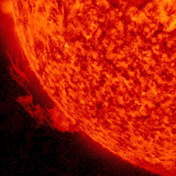 solar prominence, Feb. 2016
