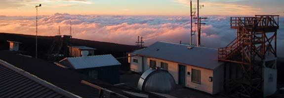 Mauna Loa observatory - courtesy NOAA, photo by Forrest Mims III