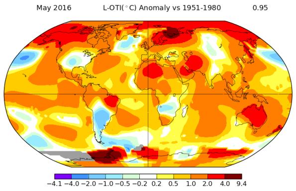 May 2016 temperatures