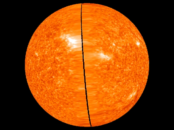STEREO image of whole sun, Feb. 2, 2011 - courtesy NASA
